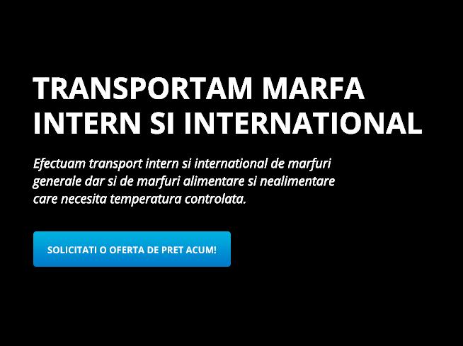 Efectuam transport intern si extern de marfuri generale cu camioane tip prelata dar si de marfuri alimentare si nealimentare care necesita temperatura controlata.